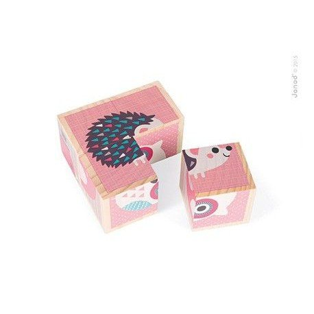 Wooden blocks Janod Animal Puzzle 6in1