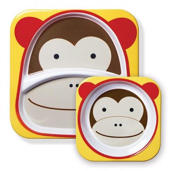 Skip Hop Zestaw Jedzeniowy Zoo Małpa