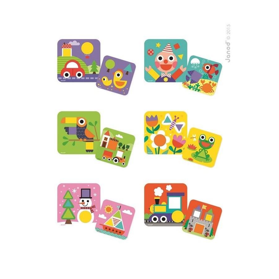 JANOD recognize shapes wooden puzzle
