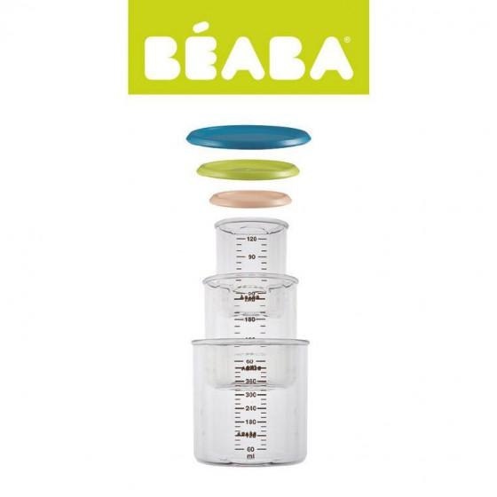 Beaba Zestaw sloiczków 3 szt. 120 ml 240 ml oraz 420 ml