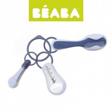 Beaba accessories care: bath thermometer clipper toothbrush and comb mineral