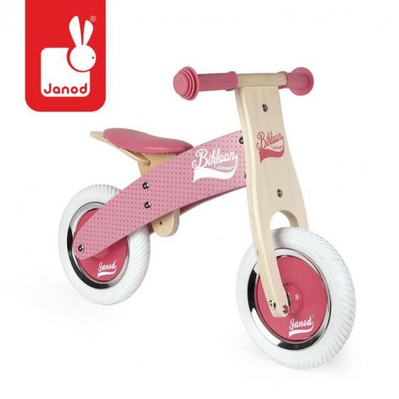 Janod Rowerek biegowy rózowy Little Bikloon 2+