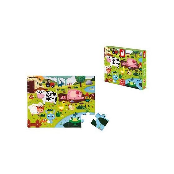Janod Puzzle sensoryczne 20 elementów Farma