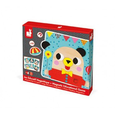 Janod puzzle magnetic wooden animals