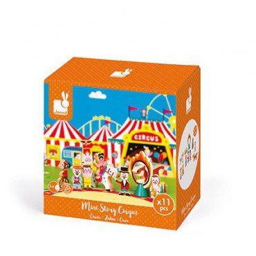Circus Janod set of 11 wooden elements Story Collection