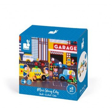 City Janod set of wooden elements 8 Story Collection