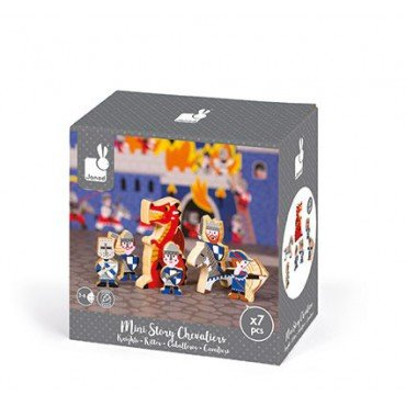 Knights Janod set of wooden elements 7 collection Story