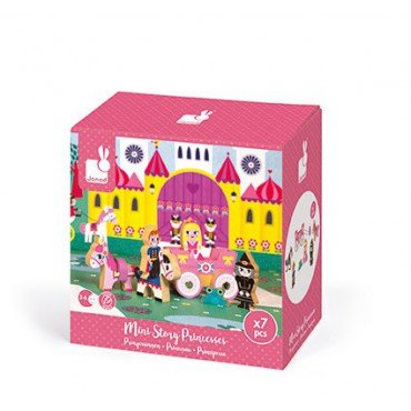 Princess Janod set of wooden elements 7 collection Story