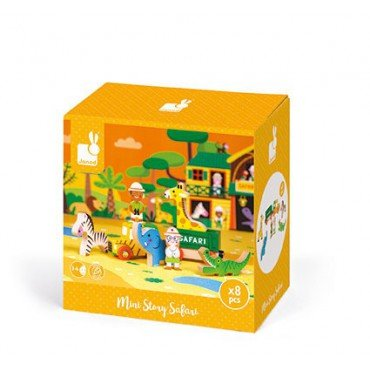 Wild animals Janod set of wooden elements 8 Story Collection