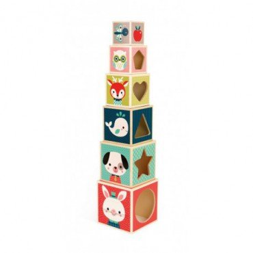Janod wooden pyramid tower Baby Forest
