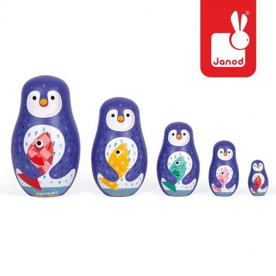 Janod Rodzina pingwinów matrioszki