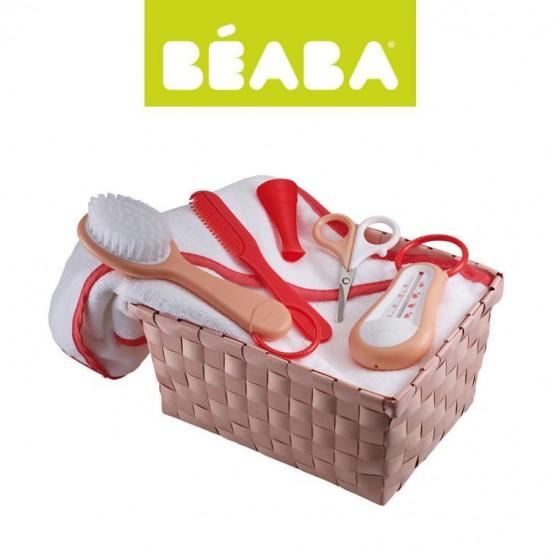 Beaba Zestaw kapielowy z akcesoriami nude/coral