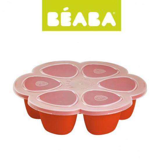 Beaba Silikonowy pojemnik do mrozenia 6 x 90 ml paprika