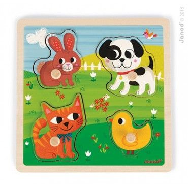 "Janod, wooden puzzle sensory ""My first pet"""