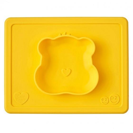 EZPZ Silikonowa miseczka z podkladka 2w1 Care Bears™ Bowl Misia Sloneczne Serce Funshine Bear zólta