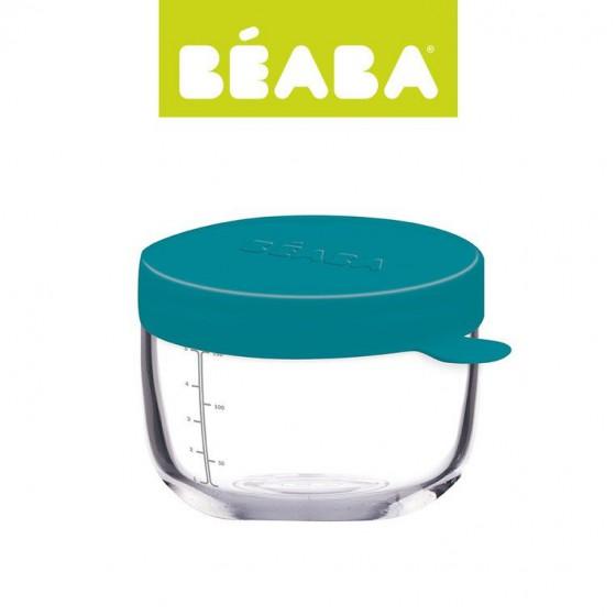 Beaba Pojemnik sloiczek szklany z hermetycznym zamknieciem 150 ml blue
