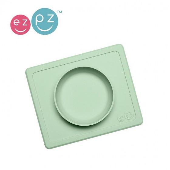 EZPZ Silikonowa miseczka z podkladka 2w1 Mini Bowl pastelowa zielen