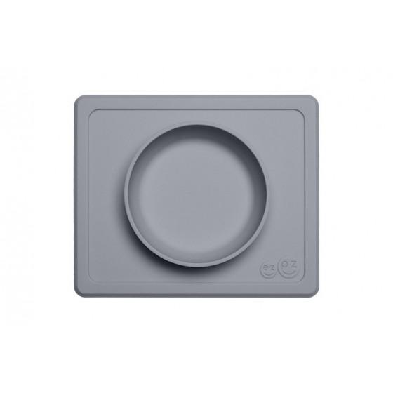 EZPZ Silikonowa miseczka z podkladka 2w1 Mini Bowl szara