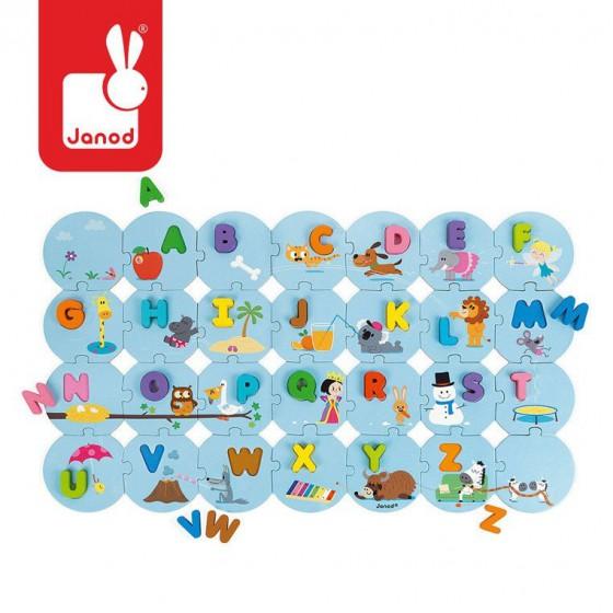 Janod Puzzle Ucze sie alfabetu wersja angielska
