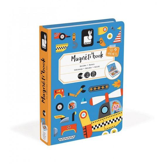 Janod Magnetyczna ukladanka Pojazdy Magnetibook
