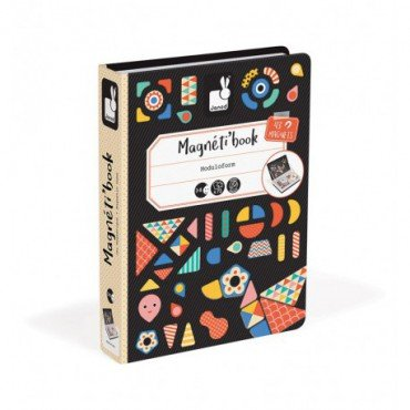 Janod Magnetic Shapes of a puzzle collection Magnetibook 2018