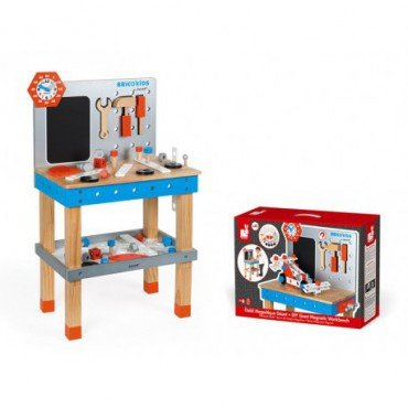 Janod workshop table with 40 accessories big Brico 'Kids Collection 2018