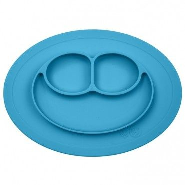 EZPZ silicone plate washer small blue 2in1 Mini Mat