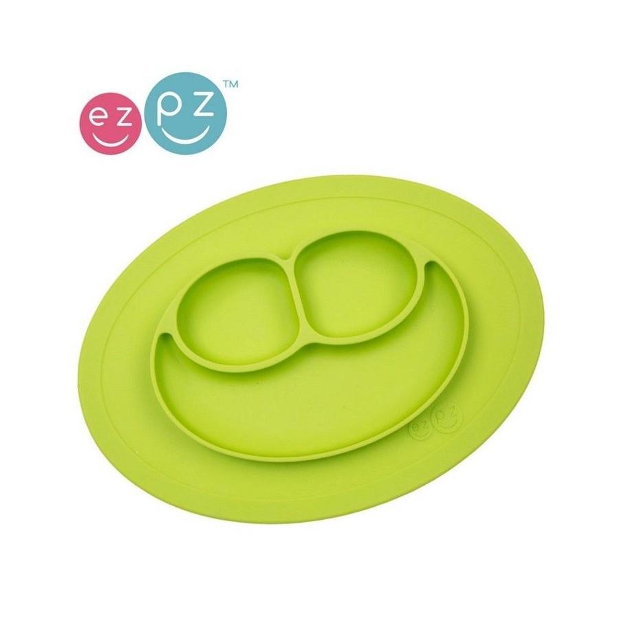 EZPZ Silikonowy talerzyk z podkładką mały 2w1 Mini Mat zielony