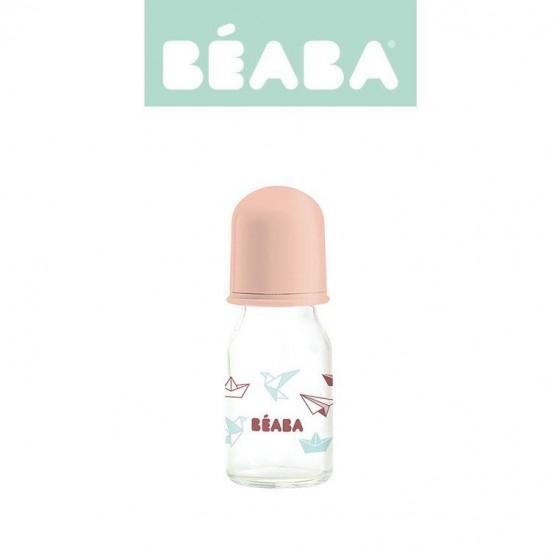 Beaba Butelka szklana 110 ml Origami nude