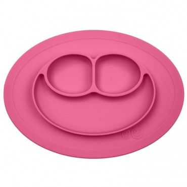 EZPZ silicone plate washer small 2in1 Mini Mat pink