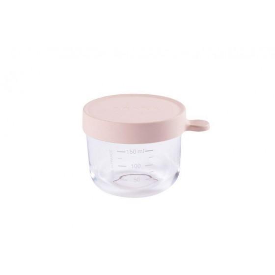 Beaba Pojemnik sloiczek szklany z hermetycznym zamknieciem 150 ml pink