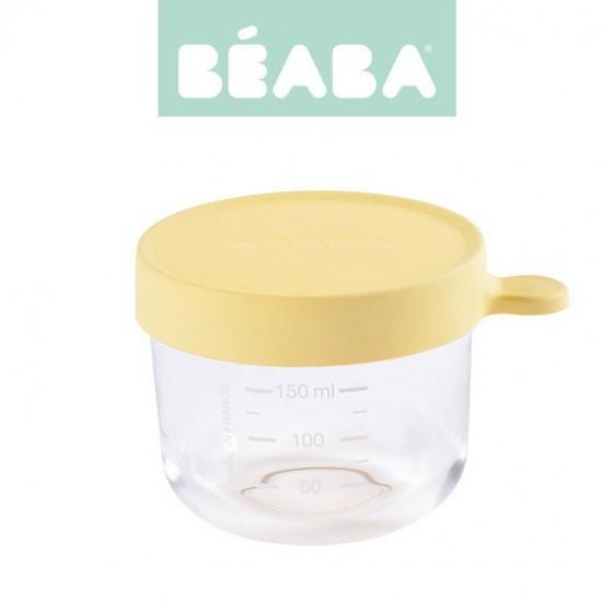 Beaba Pojemnik sloiczek szklany z hermetycznym zamknieciem 150 ml yellow