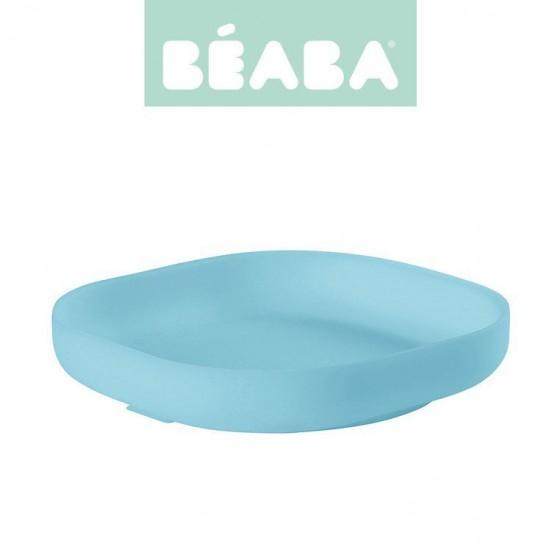 Beaba Silikonowy talerzyk z przyssawka blue