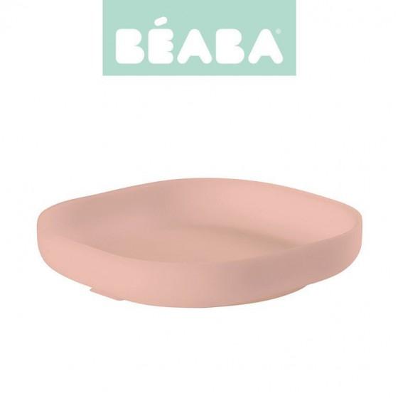 Beaba Silikonowy talerzyk z przyssawka pink