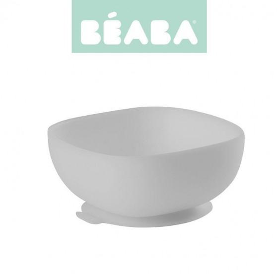 Beaba Silikonowa miseczka z przyssawka grey
