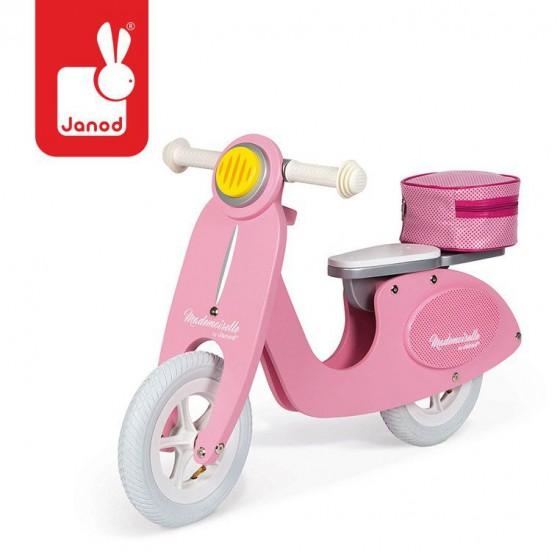 Janod Rowerek biegowy rózowy Scooter Mademoiselle