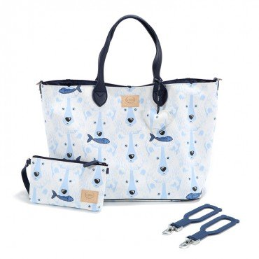 La Millou BY KATARZYNA ZIELIŃSKA LA MILLOU FEERIA - MEDIUM BAG WITH A CLUTH - ARCTIC BEAR FAMILY - PREMIUM