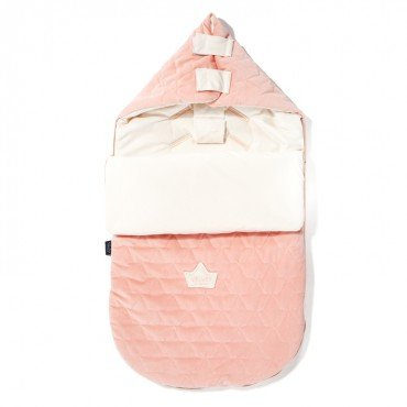 LA Millou stroller sleeping bag BAG PREMIUM S & BRIGHT PINK POWDER RAFAELLO VELVET COLLECTION