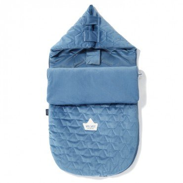 LA Millou stroller sleeping bag PREMIUM BAG VELVET S DENIM COLLECTION