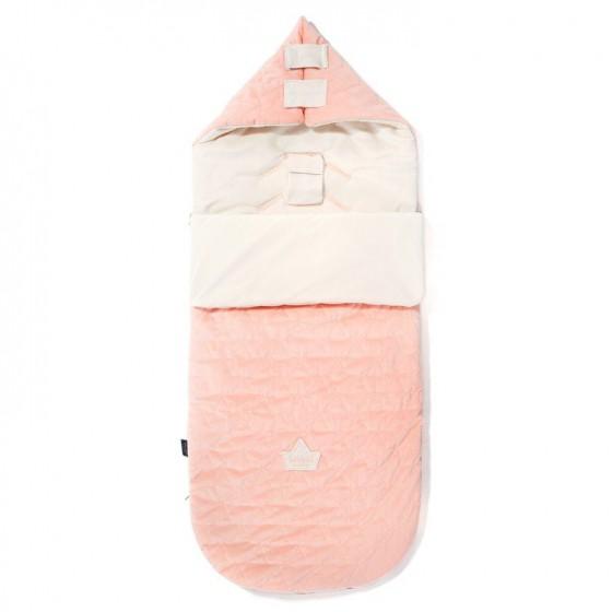 LA MILLOU STROLLER BAG PREMIUM ŚPIWOREK M POWDER PINK BRIGHT & RAFAELLO VELVET COLLECTION