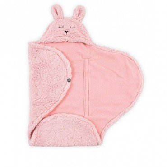 Jollein Rożek-otulacz-śpiworek Bunny Pink 105x100cm