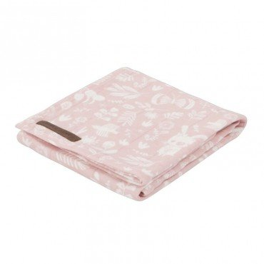 Little Dutch Otulacz 120x120cm Adventure Pink