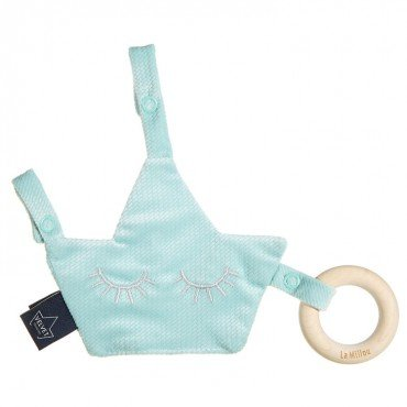 LA MILLOU VELVET COLLECTION ZAWIESZKA PACIFIER COMBO AUDREY MINT