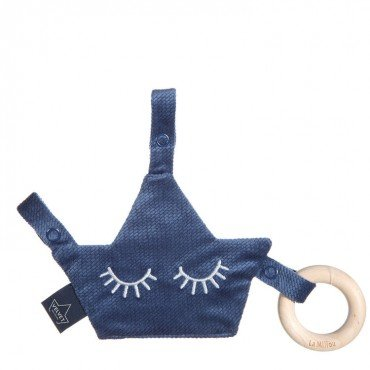 LA MILLOU VELVET COLLECTION ZAWIESZKA PACIFIER COMBO HARVARD BLUE