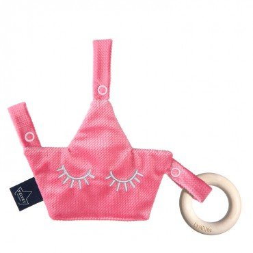 LA MILLOU VELVET COLLECTION ZAWIESZKA GRYZAK PACIFIER COMBO FLORIDA PINK