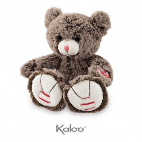 KALOO chocolate brown Teddy Bear 19 cm Collection Rouge
