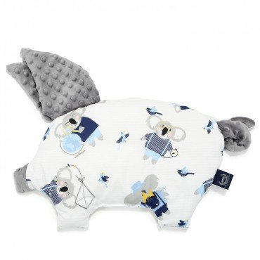 LA MILLOU PODUSIA SLEEPY PIG HELLO WORLD GREY