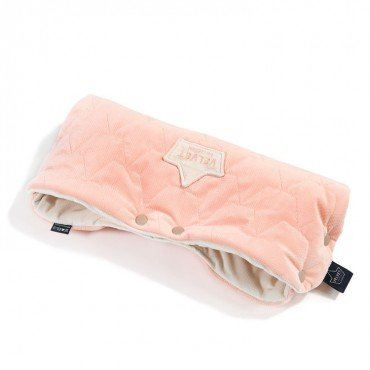 LA MILLOU VELVET COLLECTION MUFKA PREMIUM POWDER PINK BRIGHT RAFAELLO