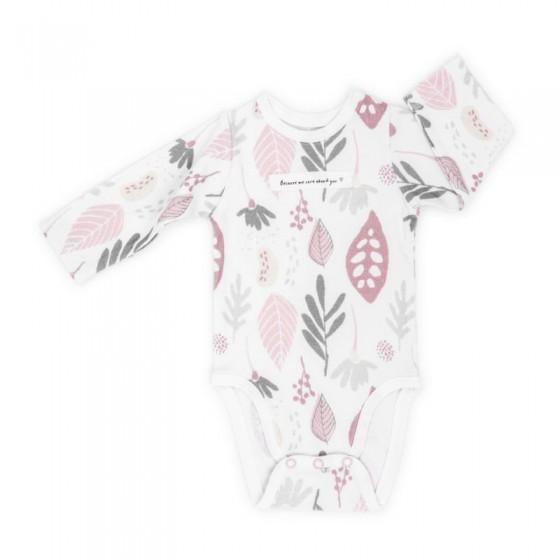 ColorStories - Body niemowlęce Longsleeve - Floral róż - 74 cm