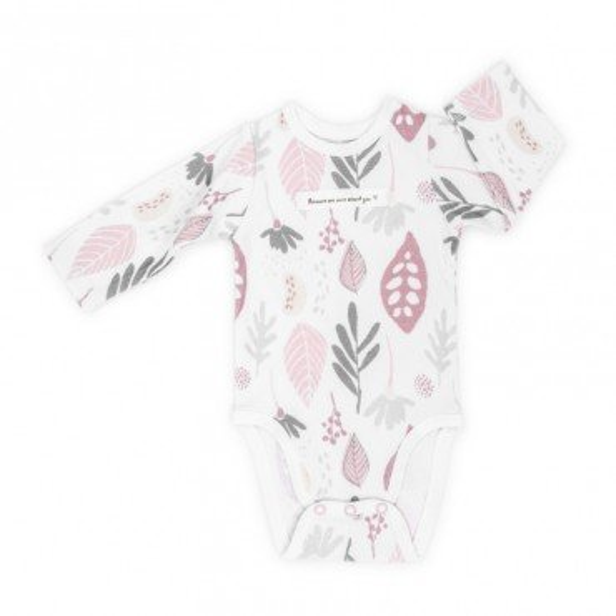 ColorStories - Body niemowlęce Longsleeve - Floral róż - 80 cm